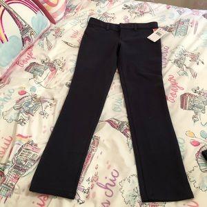 Girls skinny navy pants